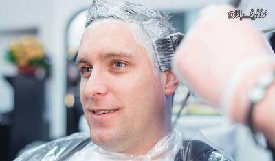 استفاده از رنگ موی مردانه در آرایشگاه مردانه